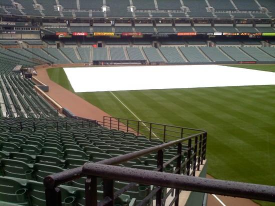 Oriole Park tarp rain 42211