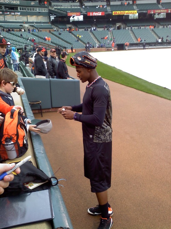 Adam Jones signing 42211