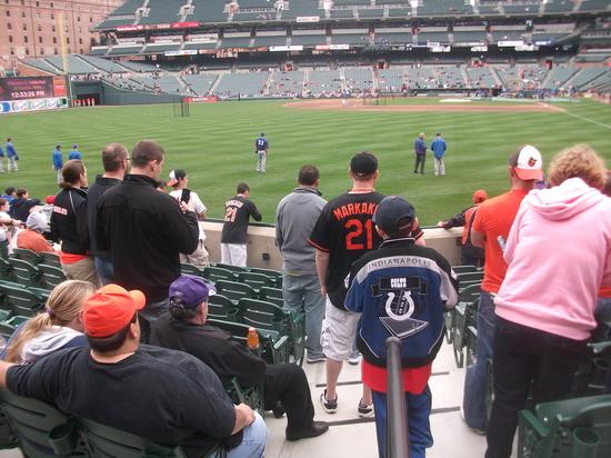 Orioles Rangers Batting Practice 41011