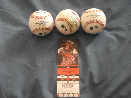 Ticket and Baseballs 42111