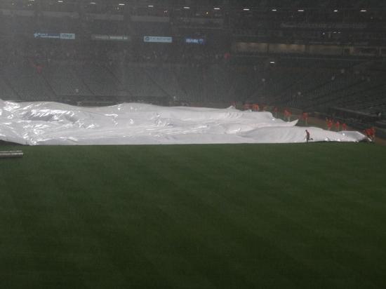 Oriole Park tarp rain 42411