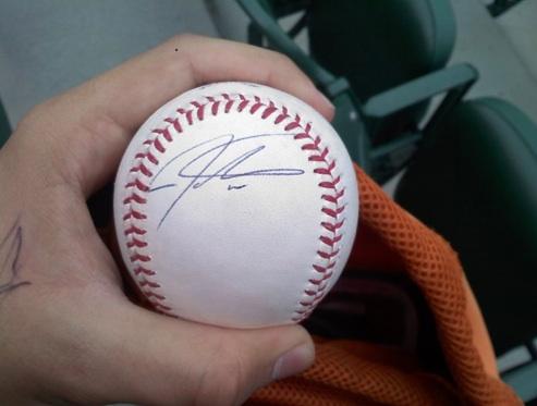 Josh Hamilton Autograph Baseball 41011
