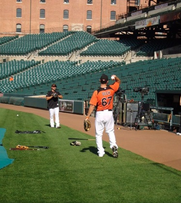 Ronnie Deck Stretching Orioles 42611 2